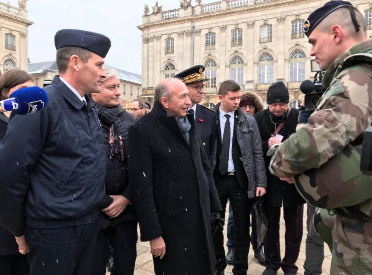 Gérard Collomb, le Ministre de l'Intérieur est en Lorraine