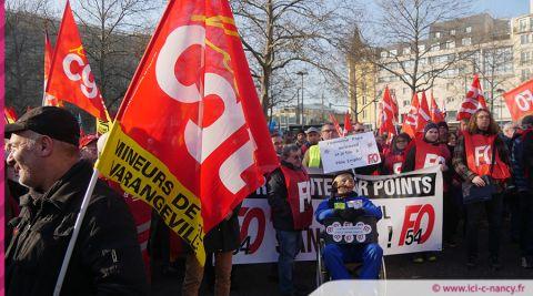 Vidéo. Grève du 5 décembre à Nancy : plus de 6000 manifestants et 6 interpellations