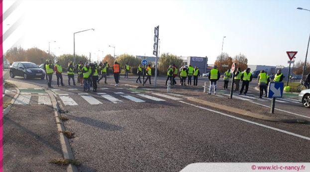 Les gilets jaunes à Essey-lès-Nancy