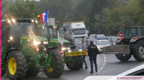 VIDÉOS. Mobilisation des agriculteurs au rond-point de Richardménil