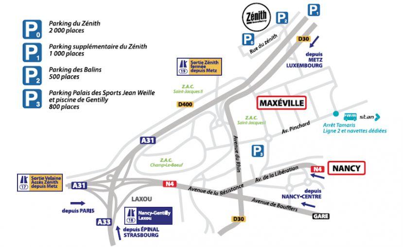 Zénith de Nancy : les conditions d'accès et de stationnement pour les concerts de plein air