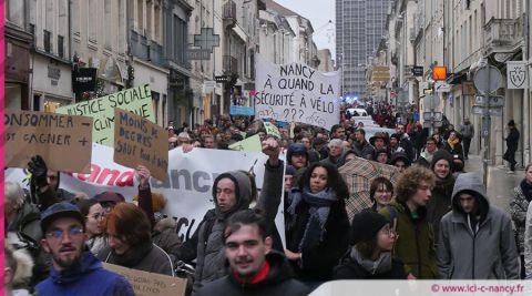 Marche pour le climat : un millier de manifestants dans les rues de Nancy
