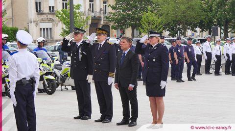 Nancy : une cérémonie d'hommage aux policiers morts pour la France