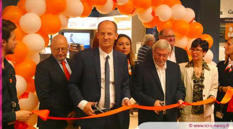 Inauguration de la boutique Orange à Houdemont / photo ici c nancyfr