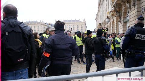 Gilets jaunes à Nancy : cinq interpellations et des incidents