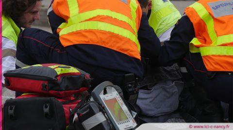 Exercice « ORSEC nombreuses victimes » sur l'autoroute A 313 à hauteur de Pont-à-Mousson