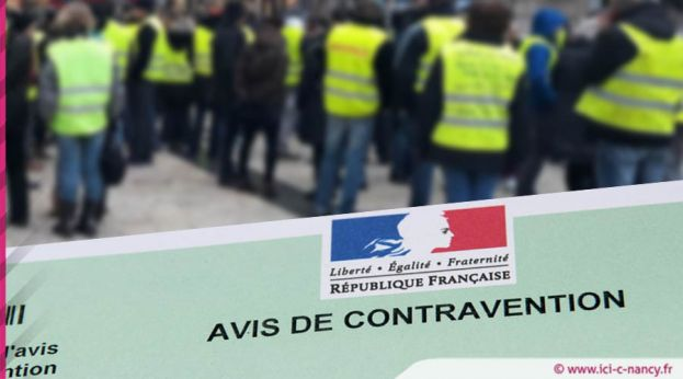 Gilets jaunes à Nancy : quatre interpellations et une quarantaine de verbalisations à 135 euros ...
