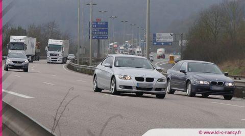 Info trafic : accident et ralentissement sur l'A31 à Maxéville