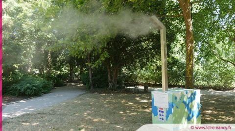Nancy : des brumisateurs dans les parcs de la ville pour éviter le coup de chaud