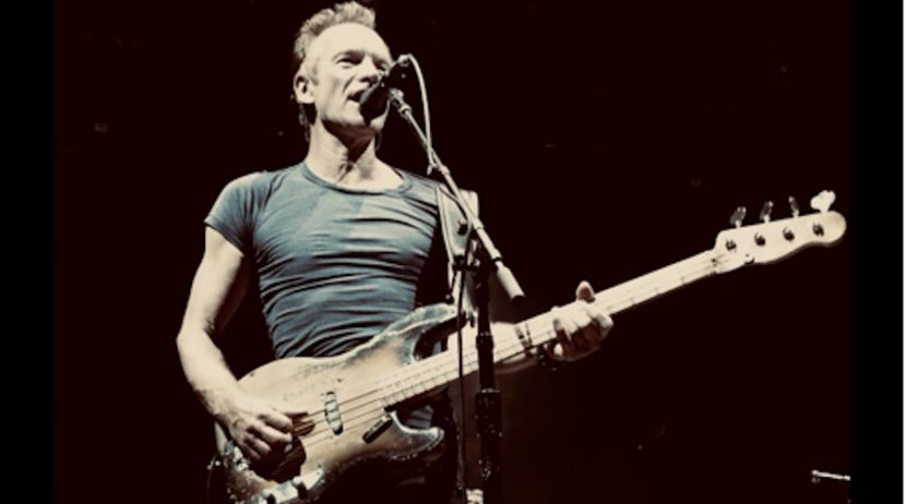 Sting à la guitare - crédit photo / Martin Kierszenbaum