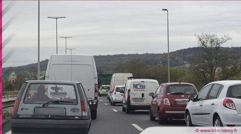 Info trafic : accident et bouchon sur l'A330 à Houdemont