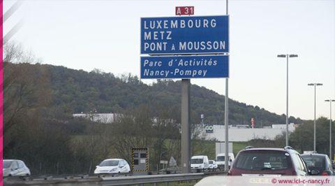 Accident sur l'A31 dans le sens Metz vers Nancy et 9 kilomètres de bouchon