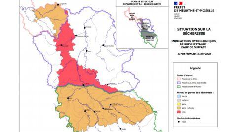 Sécheresse : passage en crise pour la zone « Moselle aval Orne Nied et Seille »