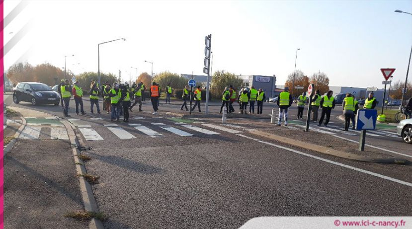 gilets jaunes en meurthe et moselle les points de blocage 09h45. Black Bedroom Furniture Sets. Home Design Ideas