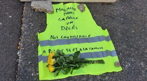 Suicide à l'Hôtel de Police de Nancy : hommage d'un collectif de gilets jaunes