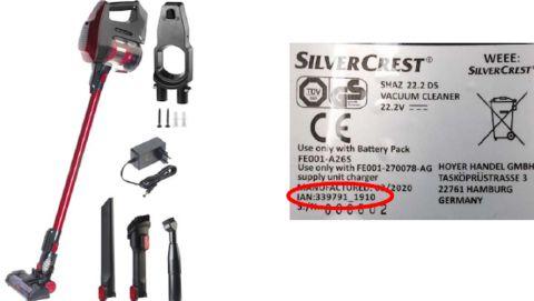 Risque d'embrasement : rappel d'un aspirateur sans fil Silvercrest (Lidl)
