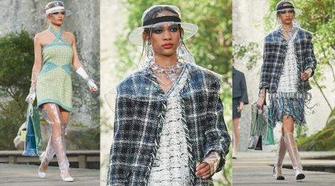 Le plastique transparent à l'honneur de la collection Chanel printemps-été 2018