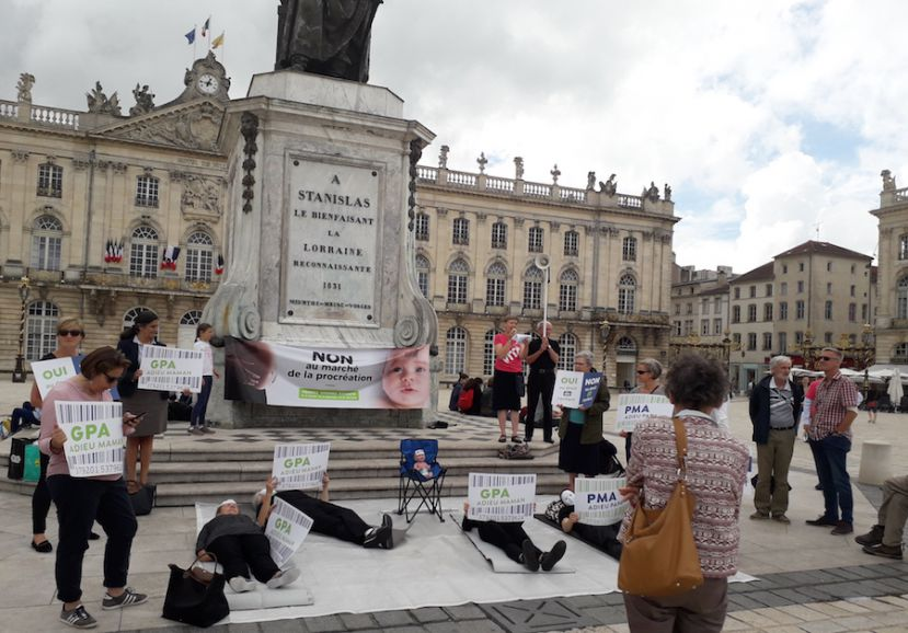 L'association Alliance Vita a manifesté mardi à Nancy
