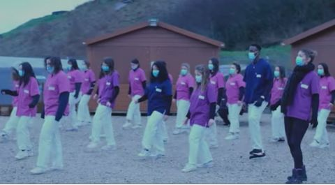 """Vidéo. """"Jérusalema challenge"""": au Fort Pélissier, les lycéens relèvent le défi des policiers de Nancy"""