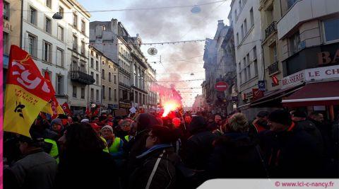 Manifestation du 24 janvier : un peu plus de 2000 manifestants à Nancy