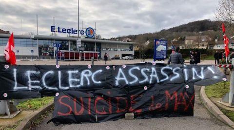 """Vandœuvre-lès-Nancy : suicide d'un salarié de l'hypermarché Leclerc, FO 54 dénonce """"la pression managériale"""""""