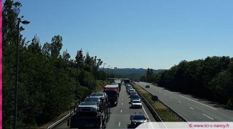 Info trafic : travaux à hauteur de Laxou et coupure de l'A31 dans le sens Metz vers Paris