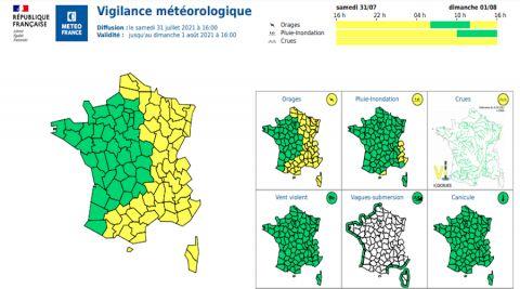 Météo : le département de Meurthe-et-Moselle placé en vigilance jaune orages