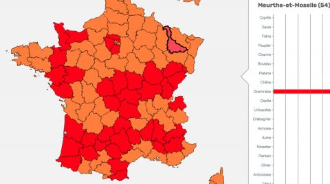 Carte du 11 juin 2019 / source RNSA